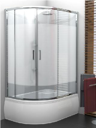 NEW TRENDY asymetrický sprchový kout VARIA 120x85x165, čiré sklo - K-0191