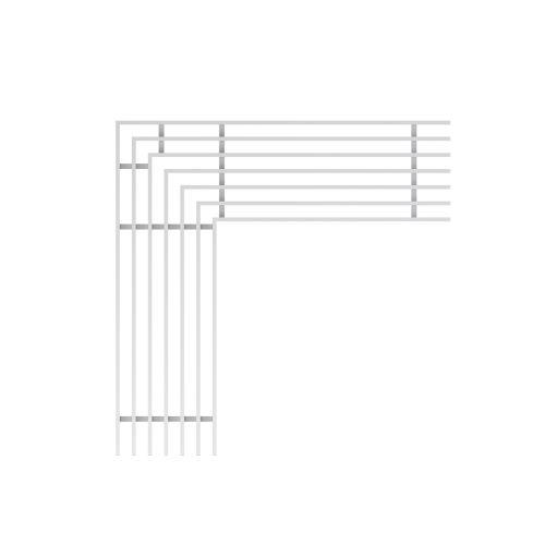 ALCAPLAST Rošt pro drenážní žlab rohový 100 mm, nerez (ADZ-R324R)