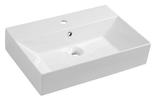 Aqualine SISTEMA Keramické umyvadlo 60x42cm, bílá