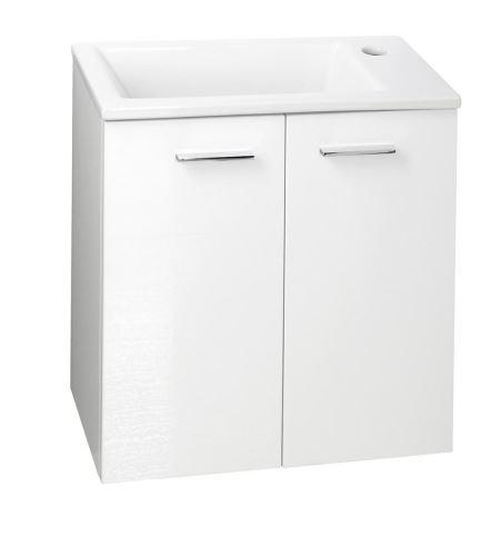 Aqualine ZOJA umyvadlová skříňka 49x50x24,6cm, 2 dvířka, bílá