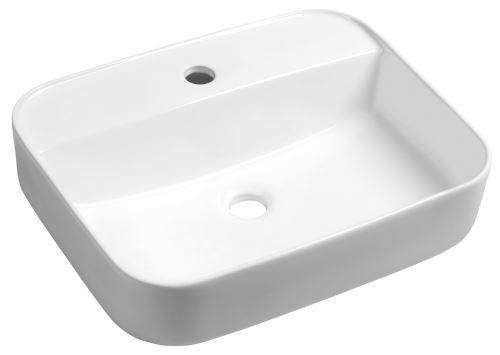 Sapho GARDA keramické umyvadlo 50x13,5x40 cm, na desku