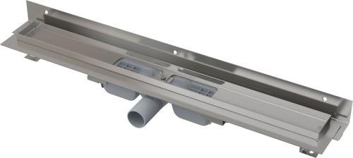 ALCAPLAST APZ104 FLEXIBLE LOW-1050 Podlahový žlab s okrajem pro perforovaný rošt a s nastavitelným límcem ke stěně