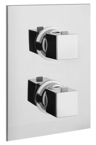 Sapho DIMY podomítková sprchová termostatická baterie, 2 výstupy, chrom
