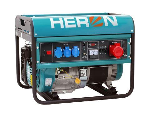 HERON elektrocentrála benzínová 15HP/6,8kW (400V) 5,5kW (230V) (8896118)
