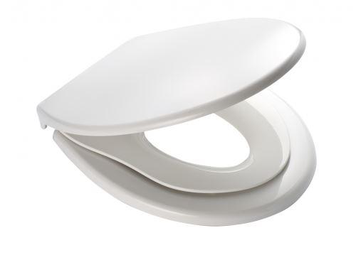 RIDDER WC sedátko s dětskou vložkou, soft close, PP termoplast - bílá (44,5 × 36,5 cm) (02119101 GENERATION)