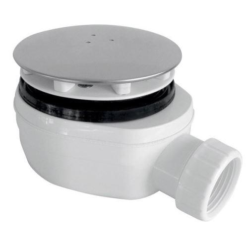 Gelco GELCO vaničkový sifon, průměr otvoru 90 mm, DN40, nízký, krytka leštěný nerez