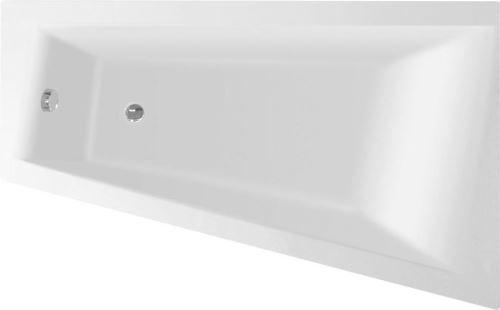 Aqualine METUJE vana 160x100x42cm, bez nožiček, pravá, bílá