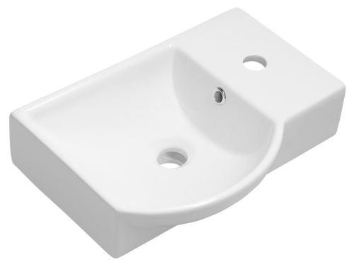 Sapho LITOS keramické umývátko pravé, 45x32 cm, bílá