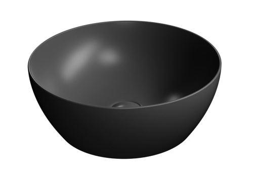 GSI PURA umyvadlo na desku průměr 42 cm, černá mat