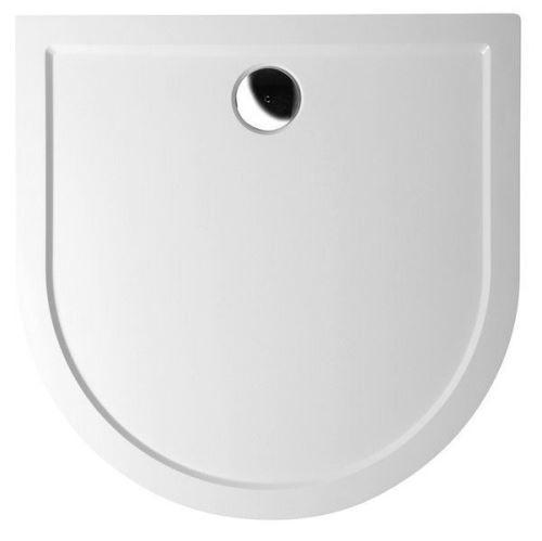Polysan ISA 90 sprchová vanička z litého mramoru, půlkruh 90x90x4cm, bílá