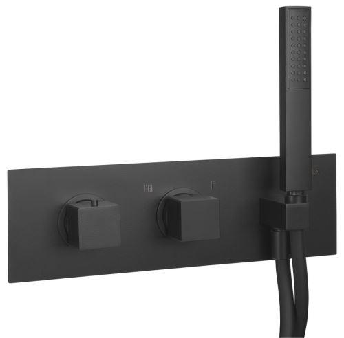 Sapho DIMY podomítková sprchová termostatická baterie s ruční sprchou, 2 výstupy,černá