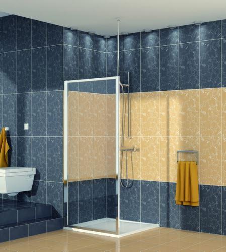 SANSWISS RONAL ECO LINE ECOF Boční stěna sprchová 80 cm, aluchrom/sklo (ECOF08005007)