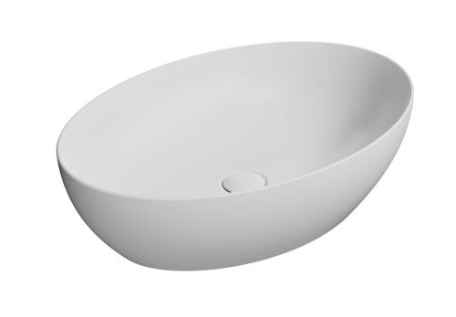 GSI PURA umyvadlo na desku 60x42 cm, bílá mat