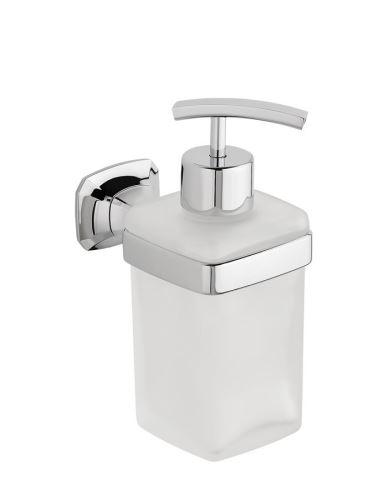 Sapho AIDA dávkovač mýdla, chrom/sklo satin