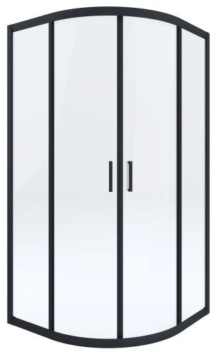 DEANTE Čtvrtkruhová zástěna FUNKIA 90x90, transparent/černá (KYP N51K)