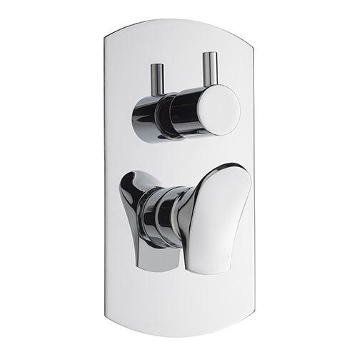 Effepi BÉK podomítková sprchová baterie, 2 výstupy, otočný přepínač, chrom