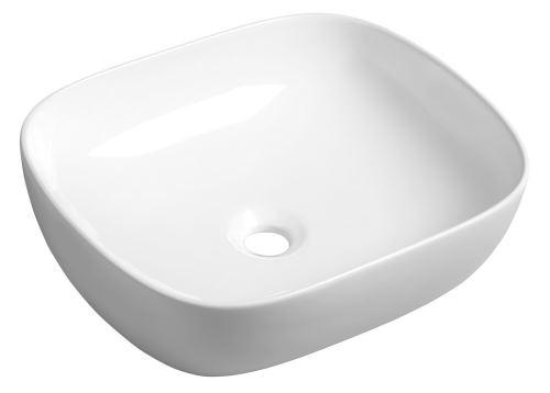 Sapho LIRO keramické umyvadlo 48,5x14,5x39,5 cm, na desku
