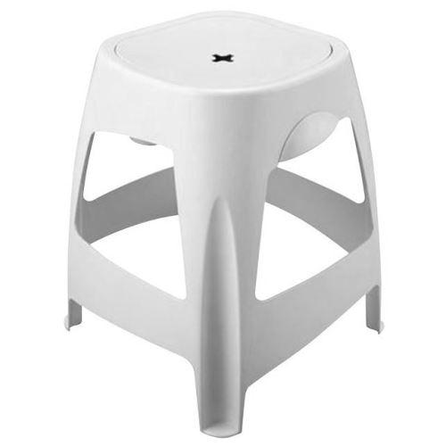 Aqualine Stolička koupelnová s úložným prostorem, bílá