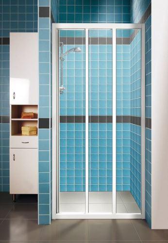 RAVAK Sprchové dveře SUPERNOVA ASDP3 120 white+Transparent (00VG0102Z1)