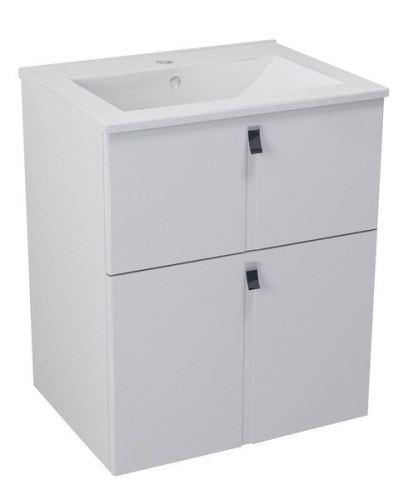 Sapho MITRA umyvadlová skříňka 59,5x70x45,2 cm, bílá
