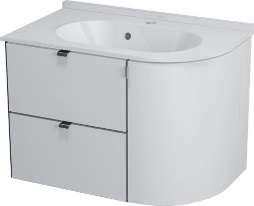 Sapho PULSE umyvadlová skříňka 75x52x45 cm, levá, bílá/antracit