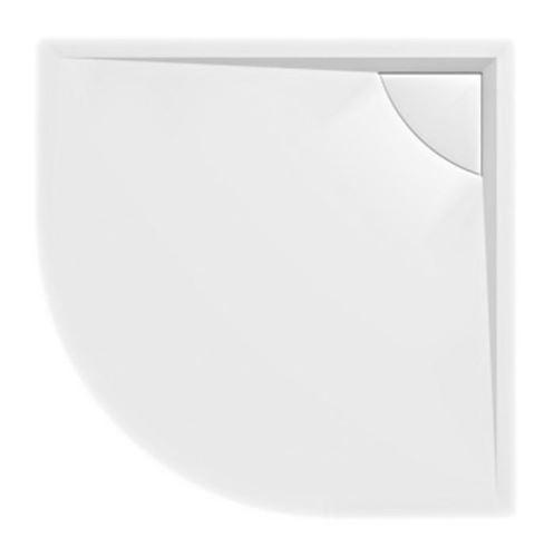Polysan LUSSA sprchová vanička z litého mramoru se záklopem, čtvrtkruh 90x90x4cm, R550