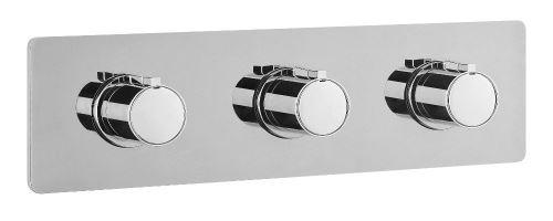 Sapho RHAPSODY podomítková sprchová termostatická baterie, 3 výstupy, chrom