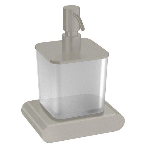 Sapho FLORI dávkovač mýdla, nikl/sklo satin