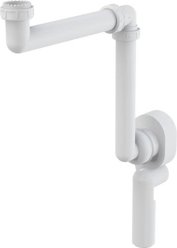 ALCAPLAST Sifon podomítkový umyvadlový a dřezový, prostorově úsporný (A873)