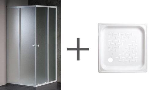 SAPHO set kout AMANDA 80x80 matné sklo+vanička SETE82PD80