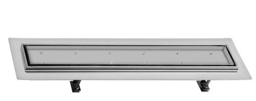 Sapho FLOW 77 nerezový sprchový kanálek s roštem pro dlažbu, 770x150x82 mm