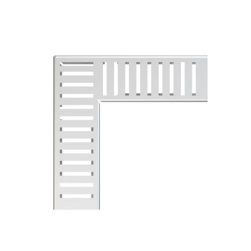 ALCAPLAST Rošt pro drenážní žlab rohový 100 mm, nerez (ADZ-R322R)