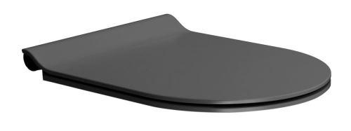 GSI WC sedátko SLIM soft close, duroplast, černá mat/chrom